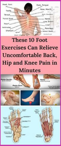These 10 Foot Exercises Can Relieve Uncomfortable Back, Hip and Knee Pain in Minutes! - Workout Hit