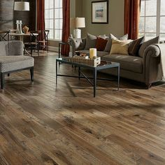 [New] The 72 Best Home Decor Ideas Today (with Pictures) - This Winter Wheat hickory flooring from Somerset Hardwood Floors makes this living room look even more cozy! We love the different widths of boards to give a little texture do you? Types Of Hardwood Floors, Modern Wood Floors, Living Room Hardwood Floors, Hardwood Floor Colors, Maple Hardwood Floors, Hickory Flooring, Oak Laminate Flooring, Wood Tile Floors, Engineered Hardwood Flooring