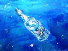 Mermaid in bottle water art Mermaid In Love, Mermaid Song, Anime Mermaid, Mermaid Art, The Little Mermaid, Fantasy Mermaids, Real Mermaids, Mermaids And Mermen, Mermaid Wallpaper Backgrounds