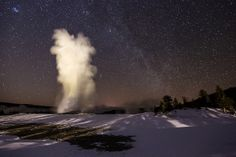 Old Faithful Under the Milky Way | Flickr - Photo Sharing!