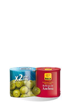 Rellenas con anchoa lata 2x212 ml #aceitunasrellenas #anchoa #Jolca
