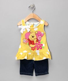 Take a look at this Yellow Pooh Tank & Jeans - Infant by Winnie the Pooh on #zulily today!