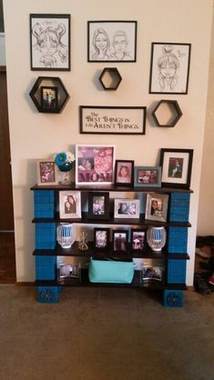 My book shelf made from cinder blocks wood and a little paint.