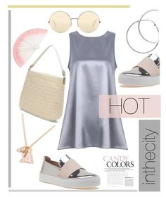 """""""Hot in the City!"""" by babett-beattie ❤ liked on Polyvore featuring Stuart Weitzman, Victoria Beckham, Stella & Dot, Melissa Odabash and Francesca's"""