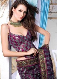 S2006 Ravishing Magenta Art Silk Lehenga Style Saree - - Women's Apparels - Clothing /Jewellery