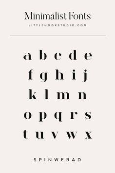 Modern fonts for your blog or brand. Type design, type inspiration, font inspiration, typography design, typography logo, typography inspiration, logo fonts, blog fonts by Little Nook Studio