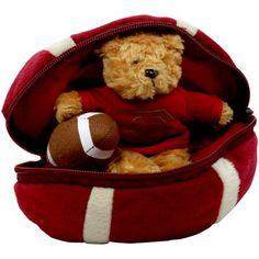 Florida State Seminoles (FSU) Hidden Plush Bear Football Toy - Garnet