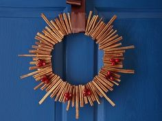 This cinnamon stick wreath will make your home smell wonderful.