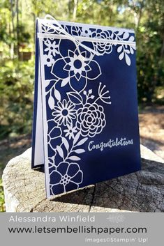 Delightfully Detailed Navy and White – Stampin' Up!