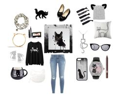 """""""I'm a cat person"""" by starfrost5 on Polyvore featuring art"""