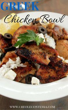 Greek Chicken Bowl-Creole Contessa