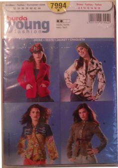 Patron Burda young fashion vestes : Patrons par le-fil