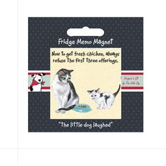 Cat Fridge Magnet By The Little Dog Laughed £2.89 Free P&P at www.presentandcorrect.co.uk https://www.presentandcorrect.co.uk/	cat-fridge-magnet-by-the-little-dog-laughed A lovely, useful, thoughtful little gift to pop in the post to brighten someone's day....