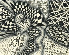 zentangles for beginners | Zentangle for Adrienne