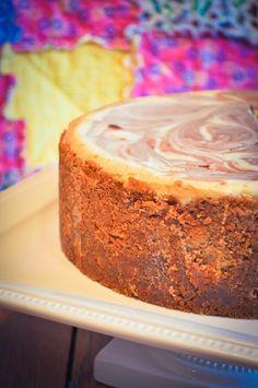 Chocolate Marble Cheesecake - Lemon Sugar