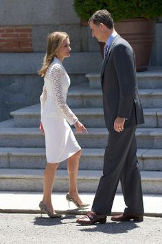 Crown Prince Felipe and Crown Princess Letizia of Spain attend a Lunch with Presidente of United States of Mexico at Zarzuela Palace on 09.06.2014 in Madrid