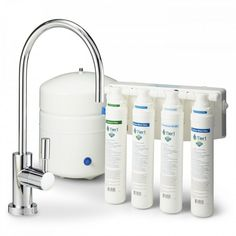 4 Stage Quick Change Reverse Osmosis Water Filtration System 50 GPD - -- You can get more details by clicking on the image. (This is an affiliate link) Best Kitchen Faucets, Kitchen And Bath, Reverse Osmosis Water, Water Filtration System, Water Coolers, Bath Fixtures, Easy Install, Filters, Change