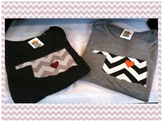 Chevron Oklahoma T-shirts $42.99  Hearts over Stillwater and Norman  Only at Tiger Lily