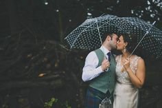 Bride and Groom from a Rainy Day Summer Barn Wedding | Photography by http://jenowensimages.com/