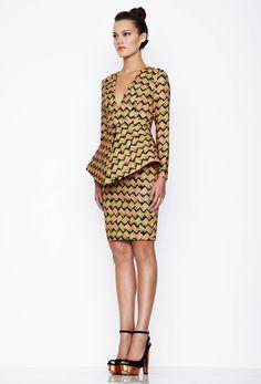 Print long sleeve midi dress aqua by aqua : Aqua by Aqua