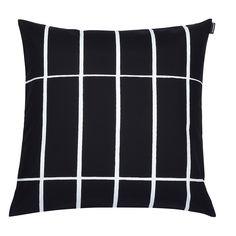 Marimekko Tiiliskivi Black / White Throw Pillow - Click to enlarge