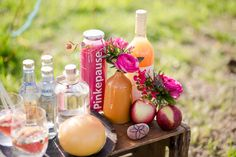 Bohemian Wedding Inspiration, Drinks, Bar, Pinkepause, Apfelsaft, Gin Tonic