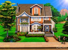 My Sims, Sims Cc, Mass Effect Universe, Sims House Plans, Sims House Design, Casas The Sims 4, Suburban House, Willow Creek, Sims 4 Build