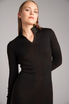 FW 18 from the Norwegian designer Mette Møller. Product name: Bilbao split dress Bilbao, High Neck Dress, Winter, Dresses, Design, Fashion, Turtleneck Dress, Winter Time, Vestidos