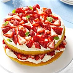 Deluxe Strawberry Shortcake Recipe -This tasty shortcake is perfect for the Fourth of July. I love the moist, from-scratch flavor. It's foolproof and always brings lots of compliments. —Janet Fant, Denair California