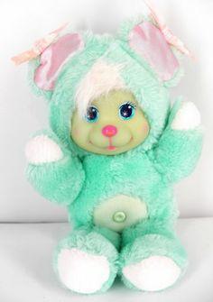Mattel Magic Nursery Baby Pet Vinly Face 1990 Vtg Plush Ebay