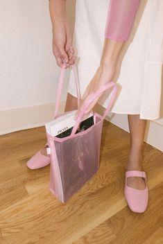 WALKER BAGS   Open Tote - Pink