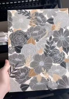 Diy Canvas Art, Simple Canvas Paintings, Acrylic Painting Flowers, Acrylic Art, Flower Art, Flower Canvas, Art Tutorials, Art Lessons, Watercolor Art