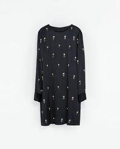 ZARA - WOMAN - EMBROIDERED SATIN DRESS
