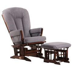 You'll love the Multi-Position Recline Two Post Glider with Deluxe Cushion and Nursing Ottoman at Wayfair - Great Deals on all Baby & Kids  products with Free Shipping on most stuff, even the big stuff.