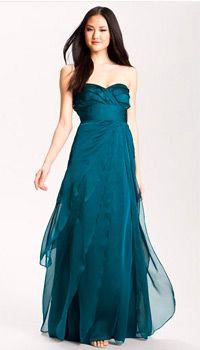 Adrianna-Papell-Strapless-Flutter-Chiffon-Gown