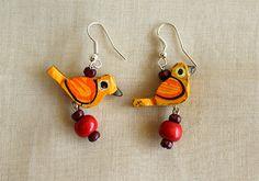 Wooden Bird Earrings – Desically Ethnic