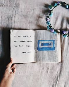 in the playlist of life always choose the right track... art journal by Rinki Tiwari Poetry Journal, Drawing Journal, Doodle Art Journals, Journal Quotes, Art Journal Pages, Journal Ideas, Sketching, Words Can Hurt, Beginner Art