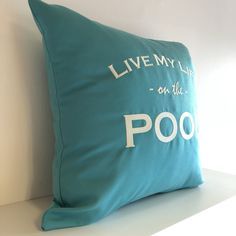 Live my life at the Pool 💦 Indoor Outdoor, Shops, Modern, Throw Pillows, Live, Design, Bags, Shopping, Home Decor