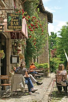 cafe in Perouges, France #europe #travel