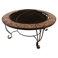 Round Mosaic Fire Table -- good for roasting marshmallows! If we have a fire pit, I vote for a round one (no sharp corners) with a fairly significant border (some small barrier between children and flames)