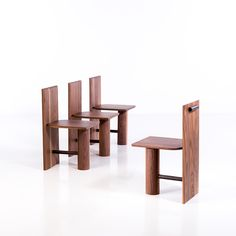 Colonne, Chair Produced in Belgium from solid american walnut. Woodworking Shop, Woodworking Plans, Wooden Chair Plans, Chair Design Wooden, Chaise Chair, Walnut Shell, Built In Bookcase, Plan Design, Wooden Diy