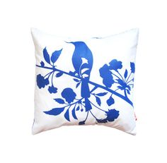 Cobalt Blue Print on Off white Blooming BlossomMini 10.5 by joom, $16.00