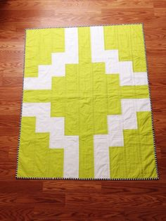 Image of aztec inspired toddler quilt