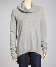 Looks so warm and comfy  Luxury meets casual in this sleek sweater. A trendy hi-low cut, warm cowl neck and super-soft wool-cashmere blend create a comfy piece from desk to date.