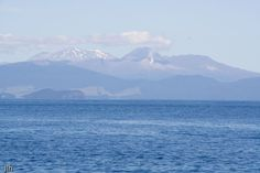 If you look closely in the background you can see a little geothermal activity. This photo was taken on Lake Taupo, New Zealand, February/March New Zealand, Places To Travel, February, Landscapes, Activities, Mountains, Country, Unique, Paisajes