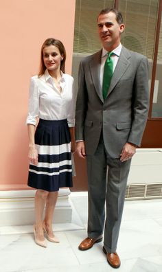 "05 June 2014 Prince Felipe and Princess Letizia attended the ""European Environment to Enterprise Awards"" at the Misnisterio de Agricultura in Madrid"