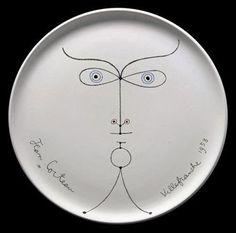 La Joconde Earthenware Plate, Jean Cocteau, 1958.
