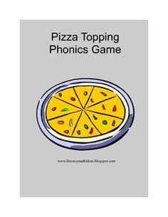 Pizza Phonics: Free Phonics Literacy Center Game - differentiates long and short sounds for I and E Free Phonics Games, Spelling Activities, Comprehension Activities, Spelling And Grammar, Spelling Words, Education And Literacy, Literacy Centers, Short E Sound, School Items