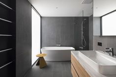 Seddon House - Modern - Bathroom - Melbourne - by Hot Black Pty Ltd Decoration, Modern Bathroom, Bathtub, Architecture, Hot, Interior, Color, Design, Melbourne