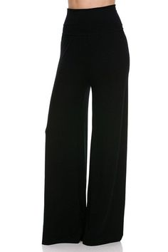 Superline Plus Size And Regular Size Stretch Comfy Solid Color Palazzo Pants in Pants | eBay